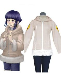 Naruto Hyuga Hinata Jacket Cosplay Costume