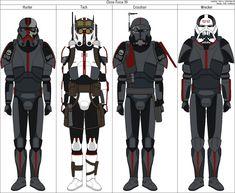 Clone Force 99 [SW] by the-roast on DeviantArt Star Wars Pictures, Star Wars Images, Star Wars Clone Wars, Star Wars Art, Star Wars Commando, Cuadros Star Wars, Galactic Republic, Star Wars Concept Art, Star War 3
