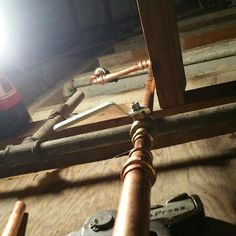 Brass valve and galvanized pipe replacement copper propress pipe & Pin by Coral Rock Plumbing on Water pipe copper repairs replacement ...