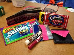 Duct Tape & candy wrappers-Skittles Clutch Bag*Cherry Pie Phone Case*Wallet*Headband w/bow*Coin Purse*