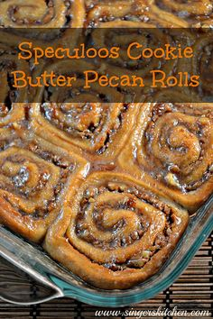 Speculoos Cookie Butter Pecan Rolls --So Delicious® Dairy Free 2013 Recipe Contest