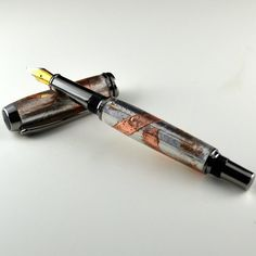 Steampunk Style Baron Fountain Pen  Handcrafted by norskwoodshop