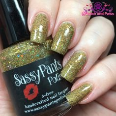 """Polish and Paws: """"Yellow Brick Road"""" by Sassy Pants Polish The Wizard of Oz Collection ~ Holiday 2015"""