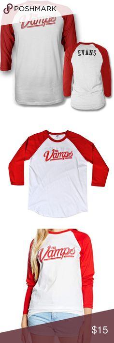 19111736 The Vamps Team Evans Baseball Long Sleeve Shirt The Vamps Band Official  Merch Team Tristan Evans