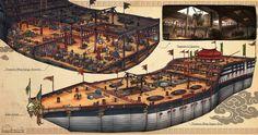 Voyage of Zheng He - Treasure Ship Interior, Hans Ekaputra on ArtStation at https://www.artstation.com/artwork/rwk2