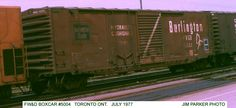 FWD 5004 FWD 5004 50' Boxcar  Chicago, Burlington & Quincy Railroad Series:  Builder:  Acquired:  History:  Renumbered:  Retired:Photographer: Jim Parker  Location: Toronto, ON.  Date: July 1977 Notes: Update Photo Info  Home   Valid HTML 4.01!  Valid CSS!
