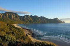 Magic sunset on Rooi Els Coastal Road, South Africa.