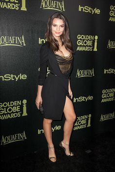 WEST HOLLYWOOD, CA - NOVEMBER 20: Emily Ratajkowski arrives for The Hollywood Foreign Press Association (HFPA) And InStyle Celebrate The 2015 Golden Globe Award Season - Arrivals at Fig & Olive Melrose Place on November 20, 2014 in West Hollywood, California. (Photo by Gabriel Olsen/Getty Images)