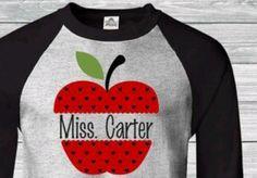 Personalized Apple Design Teacher T-Shirt