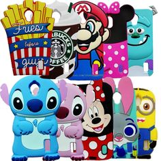 Fashion Cute Cartoon Stitch Minions Minnie Mouse Judy Rubber Silicon 3D Cover Case For Huawei Ascend Y625 Y635