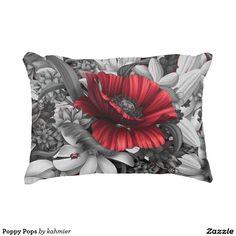 Poppy Pops Decorative Pillow https://www.zazzle.com/z/3rpt4