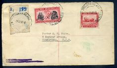 160092 - Lot 704 - Pitcairn Islands - Covers - Pitcairn Island Agency cover registered to Australia via Wellington, 6d… / MAD on Collections - Browse and find over 10,000 categories of collectables from around the world - antiques, stamps, coins, memorabilia, art, bottles, jewellery, furniture, medals, toys and more at madoncollections.com. Free to view - Free to Register - Visit today. #Stamps #PostalHistory #MADonCollections #MADonC