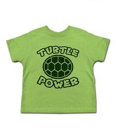 Grass 'Turtle Power' Tee - Toddler & Kids #zulily #zulilyfinds