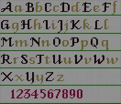 Stitch chart for the Fancy Alphabet decorative Stitch