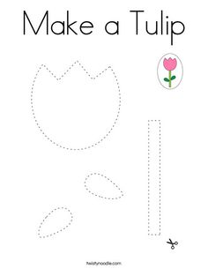 Make a Tulip Coloring Page - Twisty Noodle Preschool Kindergarten, Preschool Learning, Kindergarten Worksheets, Dementia Activities, Activities For Kids, Physical Education Games, Health Education, Physical Activities, Printable Crafts