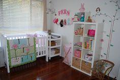 Cute nursery & nice ideas for little girl bedrooms.