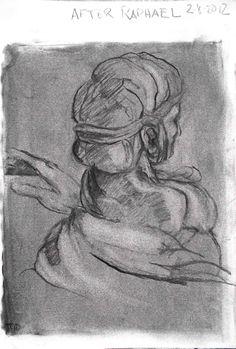 Tim Dayhuff - drawing - after Raphael