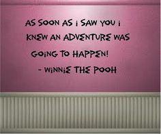 As soon as I saw you....Winnie The Pooh by VinylDesignCreations
