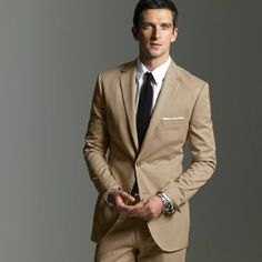 REVEL: Khaki Groom's Suit IDK. SO HARD TO FIND A SUIT. | Rings