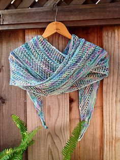 wave shawl, free pattern