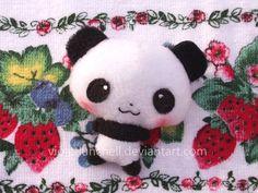 Kawaii panda plushie by VioletLunchell.deviantart.com on @deviantART