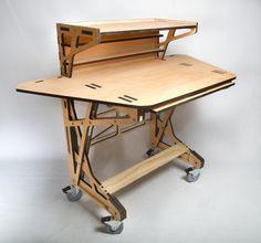 3D fabrication Desk le bureau design par Peter Borges - bureau design en bois fabrication CN commande numérique