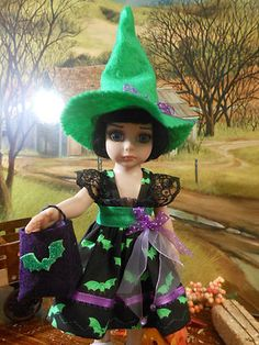 Trick or Treat for Ann Estelle, 10 in. dolls. Patsy, or BJD. Click twice to see on my ebay