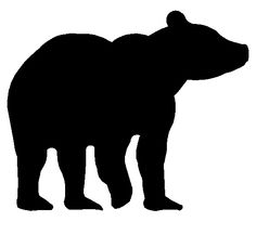 Bear Silhouette | Metal Wall Art Silhouettes of Wildlife Animals | Bears | Deer | Elk ...