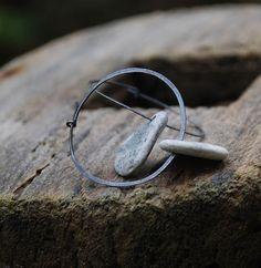 beautiful pebble hoops