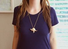 Tutorial: Faux Gold Dino Pendant Necklace