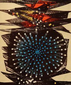 Kukita Fumiaki   First Thunderbolt  1966  Print Book: Gaston Petit - 44 Modern Japanese Print Artists
