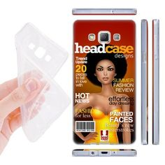 Head Case Designs Hot News Magazine Covers Soft Gel Back Case Cover for Samsung Galaxy A7 A700