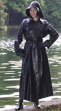 Raincoats for Women Black Raincoat, Raincoat Outfit, Pvc Raincoat, Raincoat Jacket, Plastic Raincoat, Hooded Raincoat, Rain Jacket, Rain Fashion, Latex Fashion