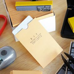 DIY Business Card Envelopes
