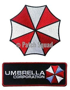 Resident Evil Umbrella Corporation Costume Cosplay Patches Set of 2 PLUS FREE GIFT