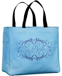 Toy Poodle Tote Bag by WryToastDesigns on Etsy, $19.99