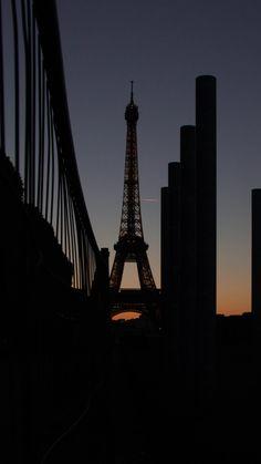 eiffel tower, paris, night