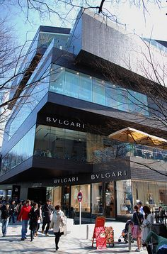De new Bulgari premises in de Gyre Building, Omotesando, Tokyo_ Japan