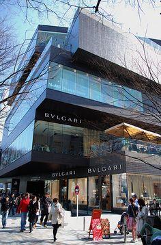 De new Bulgari premises in de Gyre Building, Omotesando, Tokyo_ Japan