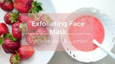 Exfoliating & Brightening Face Mask| Strawberries & Lemon| Oily & Acne prone skin|