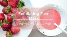 Exfoliating & Brightening Face Mask  Strawberries & Lemon  Oily & Acne prone skin 