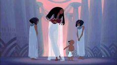The Princess finds Moses, the baby in the bullrushes.  From the magnificent 1998 animated film, The Prince Of Egypt.