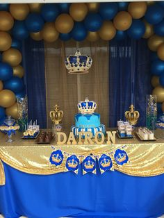 66 Ideas Baby Shower Ideas For Boys Prince Royals Baby Shower Decorations For Boys, Baby Shower Centerpieces, Baby Shower Themes, Royal Baby Shower Theme, Shower Ideas, Prince Birthday Theme, Baby Boy Birthday, Baby Shower Signs, Baby Boy Shower