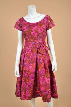 Vintage 1950's Suzy Perette Floral Pleated by wolfandmoonvintage