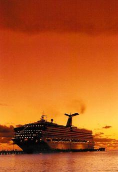 Carnival Cruises at Sunset http://rushingtravelagent.com