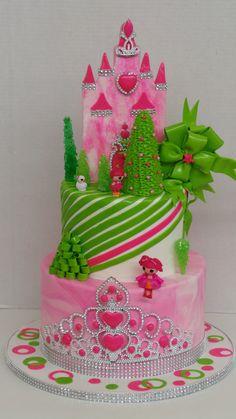 Pink and Lime Christmas Princess Celebration Cakes, Birthday Celebration, Pink Christmas, Lime, Sweets, Princess, Birthday Cakes, Desserts, Green