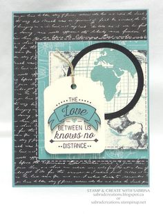Stamp & Create With Sabrina: Sneak Peek - Going Places DSP & Going Global Series - Part 1