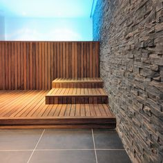 Wood Clad Appearance Basement Spa Wellness Cozy Stylish Interior Design - Home Improvement Inspiration Basement Flooring, Basement Waterproofing, Wood Spa, Interior Design Courses Online, Space Projects, Spa Water, Spa Rooms, Meditation Space, Outdoor Furniture