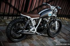 Suzuki GN 125 street-tracker Thomas does it again brilliantly! Suzuki Cafe Racer, Street Tracker, Ducati, Yamaha Wr, Suzuki Gn 125, Honda 125, Custom Motorcycles, Vintage Motorcycles, Custom Bikes