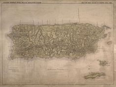 Military Map of Puerto Rico  circa 1898